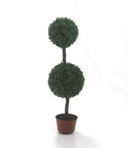 Pianta artificiale vaso 2 palle st piante decorative siepe for Piante decorative