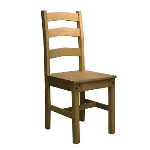PINE LADDER BACK DINING CHAIR TRADITIONAL STYLE SANTA FE