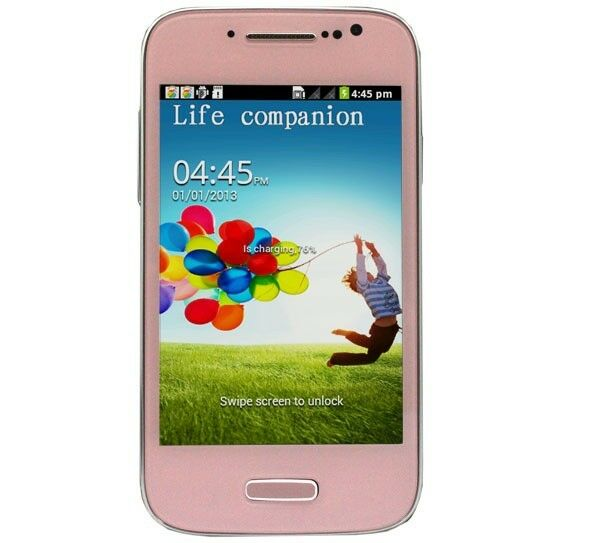 "4"" Unlocked Android Smartphone Cell Phone Dual Sim WiFi at T Straight Talk Pink"