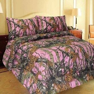 PINK CAMO COMFORTER AND SHEET SET! QUEEN! 7 pc BED IN BAG SET! CAMOUFLAGE in Home & Garden, Bedding, Comforters & Sets | eBay
