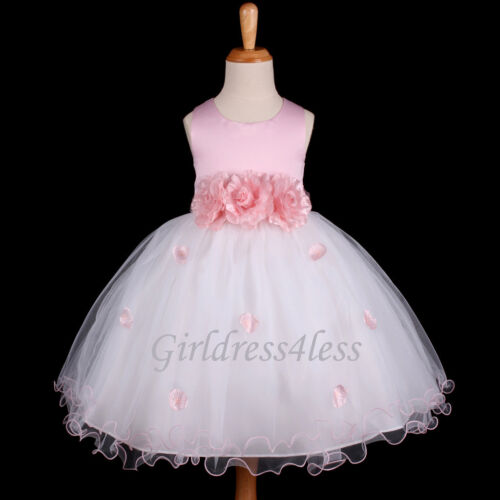 PINK PRINCESS FAIRYTALE PARTY FLOWER GIRL DRESS 6M 12M 18M 2/2T 3/4/4T 5/6 8 10 in Clothing, Shoes & Accessories, Wedding & Formal Occasion, Girls' Formal Occasion | eBay