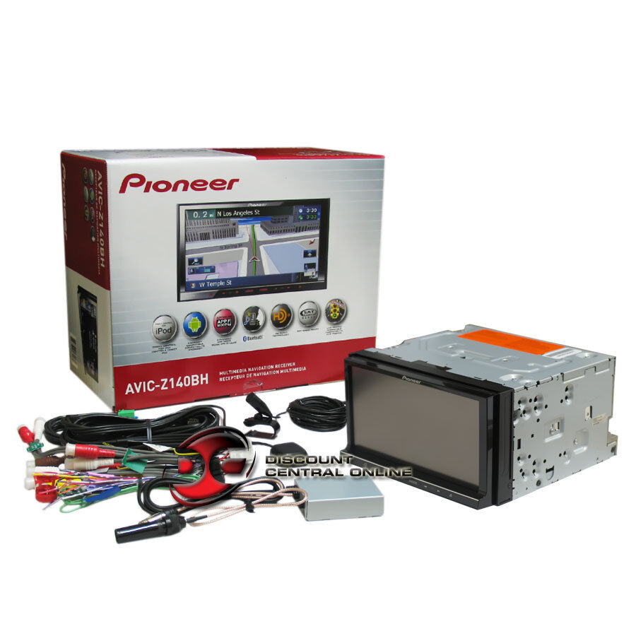 Pioneer AVIC Z140BH 7 Double DIN Car DVD CD Receiver w Bluetooth