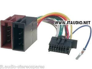 pioneer deh 1300mp deh 2200ub deh 3200ub etc 2010 iso wiring harness 16 pins ebay