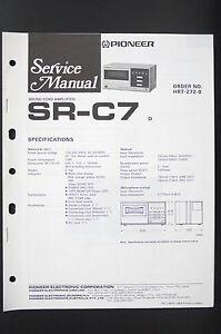 PIONEER-SR-C7-Original-Sound-Echo-Amp-Service-Manual-Anleitung-Schaltplan-o80