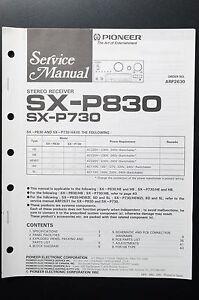 PIONEER-SX-P830-SX-P730-Original-Service-Manual-Anleitung-Schaltplan-O5