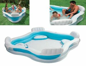 Piscina da esterno giardino gonfiabile intex 4 posti for Sedute per piscine