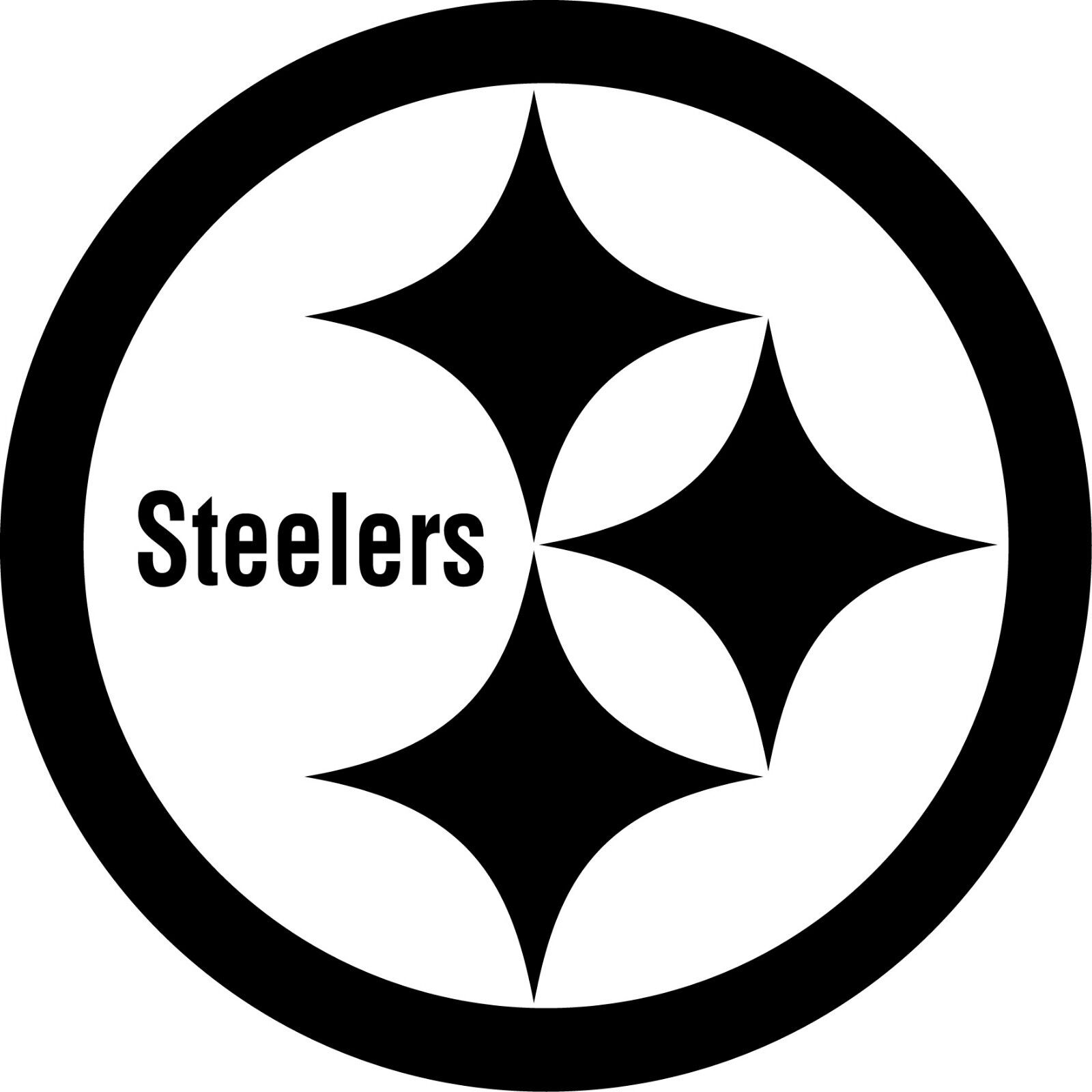 black and white pittsburgh logo pictures to pin on Giants Logo Stencil steelers logo stencil free