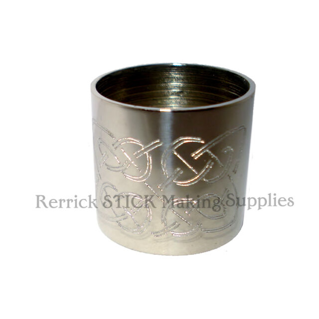 ... NICKLE SILVER COLLAR FOR WALKING STICK CELTIC KNOT ENGRAVED | eBay