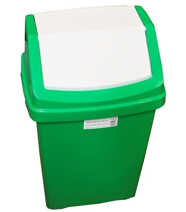 Green Kitchen Bin: GREEN PLASTIC RECYCLING BIN KITCHEN GARDEN WASTE RUBBISH