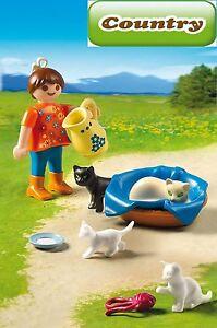 PLAYMOBIL-5126-Maedchen-mit-Katzenfamilie-NEU-OV