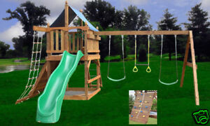 PLAYSET PLANS-FORT SWING SET DIY FREE SWINGS ACCESSORIES WOODEN in Toys & Hobbies, Outdoor Toys & Structures, Swings, Slides & Gyms | eBay