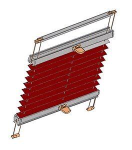 plissee cbs verdunkelung thymena hitzeschutz f r braas atelier dachfenster ba ebay. Black Bedroom Furniture Sets. Home Design Ideas