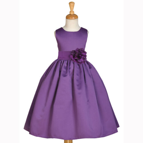 PLUM PURPLE FLOWER GIRL DRESS PAGEANT KIDS GOWN BRIDESMAID 2 3 4/4T 5 6 6X 8 10 in Clothing, Shoes & Accessories, Wedding & Formal Occasion, Girls' Formal Occasion | eBay
