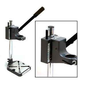 PLUNGE-POWER-DRILL-PRESS-STAND-BENCH-PILLAR-PEDESTAL-CLAMP-WITH-DEPTH-GAUGE