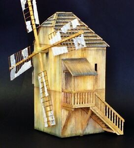 plus model 469 windmill windm hle aus holz f r diorama in 1 35 ebay. Black Bedroom Furniture Sets. Home Design Ideas