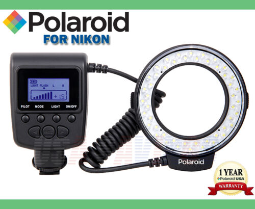 POLAROID MACRO LED RING FLASH For NIKON D3 D40 D50 D60 D70 D80 D90 in Cameras & Photo, Flashes & Flash Accessories, Flashes | eBay