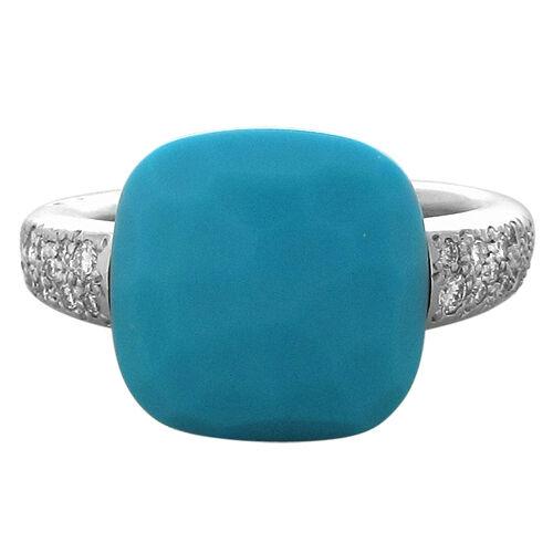 pomellato 18k white gold turquoise ring 4350 ebay