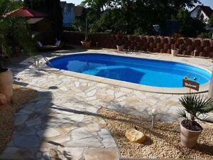 Pool oval formbecken 450x300x120 cm komplettset ebay for Pool komplettset