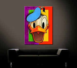 pop art fancy leinwand bild donald duck kunstdruck tick. Black Bedroom Furniture Sets. Home Design Ideas