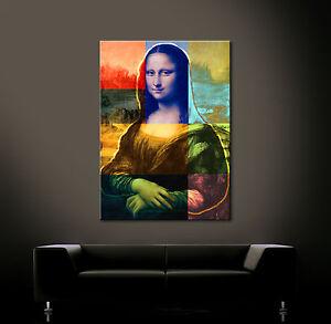 Pop art mona lisa leinwand bild bauhaus wandbilder bilder for Wandbilder modern art