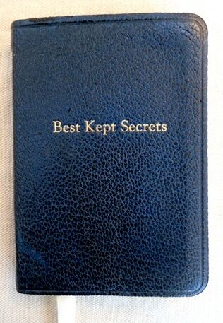 POST MINIATURES BY GRAPHIC IMAGE NAVY LEATHER  'BEST KEPT SECRETS' JOURNAL DIARY in Books, Accessories, Blank Diaries & Journals | eBay