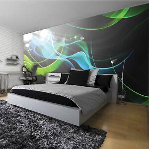 poster wandbild tapeten fototapete kunst gr n muster abstraktion 3d 3fx2588p8 ebay. Black Bedroom Furniture Sets. Home Design Ideas