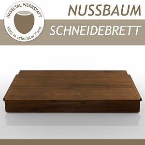 profi schneidbrett holz nussbaum massiv k chenbrett holzbrett schneidebrett ebay. Black Bedroom Furniture Sets. Home Design Ideas