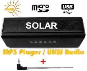 profitec solar aktiv lautsprecher sound box f r usb stick sd karte mp3 player ebay. Black Bedroom Furniture Sets. Home Design Ideas