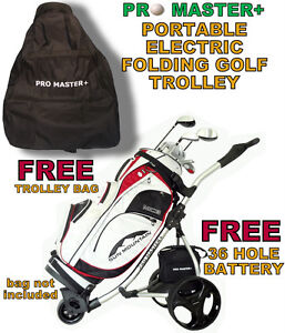 PROMASTER-PLUS-DIGITAL-POWER-ELECTRIC-FOLDING-GOLF-TROLLEY-CART-36-HOLE-BATTERY