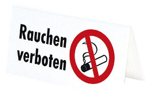 pst schild rauchen verboten neu 308024 gr ca 15x7cm tischaufsteller ebay. Black Bedroom Furniture Sets. Home Design Ideas