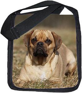puggle mops beagle mix schwarze schulter tasche tas bag pug 05 ebay. Black Bedroom Furniture Sets. Home Design Ideas