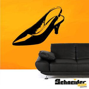 pumps wandtattoo wandbild wandaufkleber deko silhouette. Black Bedroom Furniture Sets. Home Design Ideas