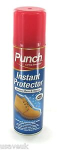 punch instant shoe care protector spray 200ml suede