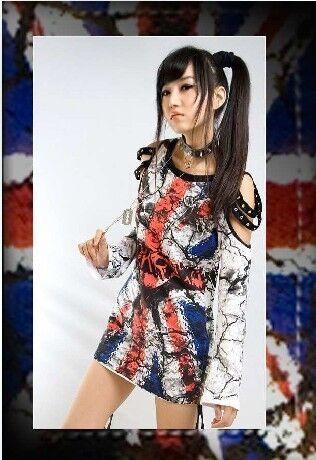 PUNK rave gothic Lolita FLAGNANA t Shirt visual kei rock top S L free
