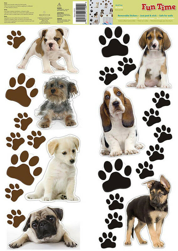 PUPPY DOG 27 Wall Stickers Room Decor PAW PRINTS Decals