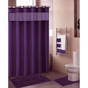 Pretty Dark Purple Shower Curtain Contemporary The Best Bathroom