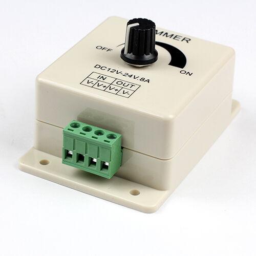 brightness pwm switch controller dimmer for led strip light 12 v to 24v 8a. Black Bedroom Furniture Sets. Home Design Ideas