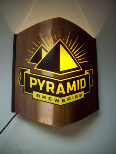 PYRAMID BREWERIES BREWERY METAL PUB BEER LIGHT SIGN SCONCE in Collectibles, Breweriana, Beer, Signs, Tins | eBay
