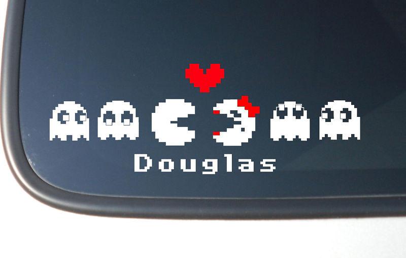 Pac Man Family Stick Family Vinyl Car Decal Sticker