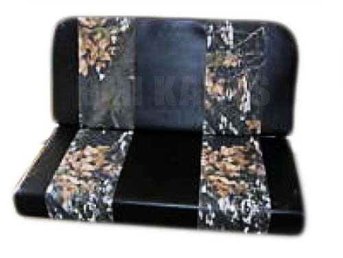 Padded Vinyl Double Seat 2 Seater w Camo Stripes for Go Karts Yerf Dog Carts