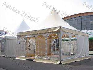 Pagode-Partyzelt-Festzelt-Raucherlounge-Gastrozelt-5x5m-mit-Fussboden