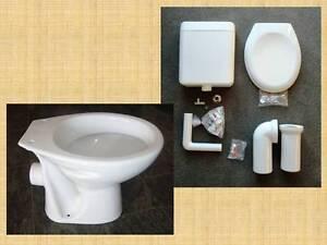 paket stand wc mit beschichtung sp lkasten sitz befestig anschlu st ck ebay. Black Bedroom Furniture Sets. Home Design Ideas