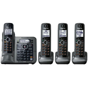 Panasonic KX-TG7644M 1.9 GHz Quadro Single Line Cordless Phone in Consumer Electronics, Home Telephones, Cordless Telephones & Handsets | eBay