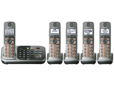 Panasonic KX-TG7745S DECT 6.0 Plus Link-to-cell Bluetooth Cordless Phone System in Consumer Electronics, Home Telephones, Cordless Telephones & Handsets | eBay