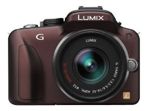 Panasonic-LUMIX-DMC-G3K-16-0-MP-Digitalkamera-Braun-Kit-mit-ASPH-14-42mm