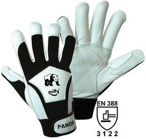 Panda-Feinmechanik-Nappaleder-Handschuh