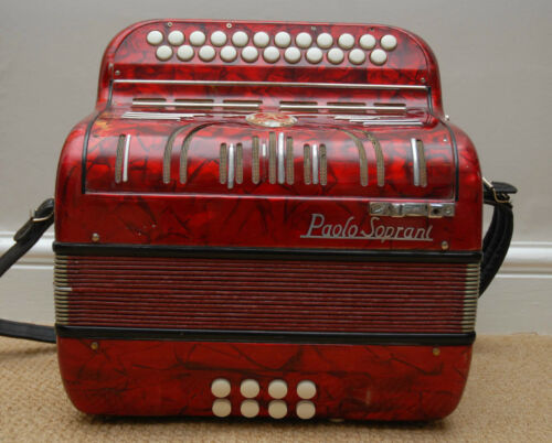 Paolo Soprani 1957 Diatonic 3 Voice Button Accordion - B/C Tuning in Musical Instruments & Gear, Accordion & Concertina | eBay