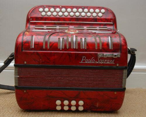 Paolo Soprani 1957 Diatonic 3 Voice Button Accordion - B/C Tuning in Musical Instruments & Gear, Accordion & Concertina   eBay
