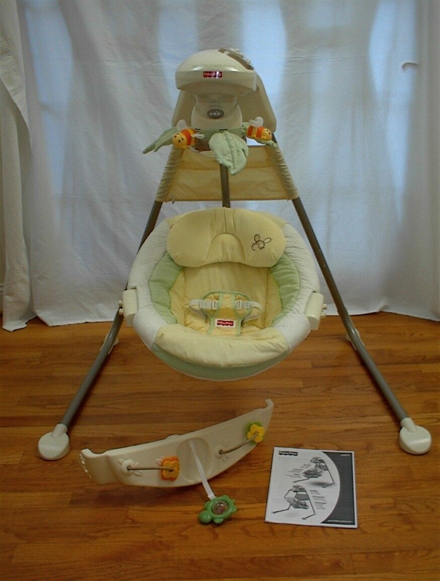 Papasan Cradle Swing by Fisher Price Natures Touch Very Gently Used