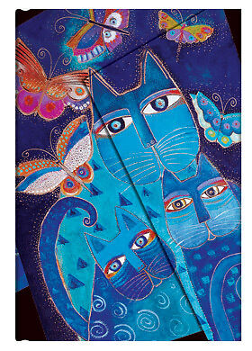 Paperblanks Laurel Burch Lined Journal Book Blue Cats Butterflies Midi Size New in Books, Accessories, Blank Diaries & Journals | eBay